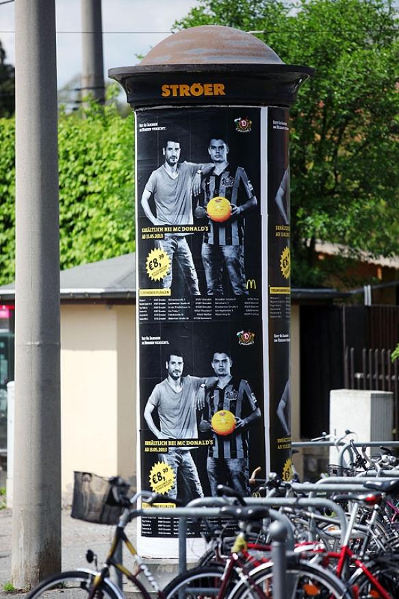 Werbefotografie: Plakatkampagne SG Dynamo Dresden und MC Donalds