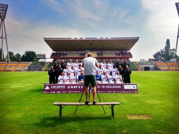 Werbefotografie - Making-of Mannschaftsbild BFC Dynamo im Berliner Jahn-Sportpark