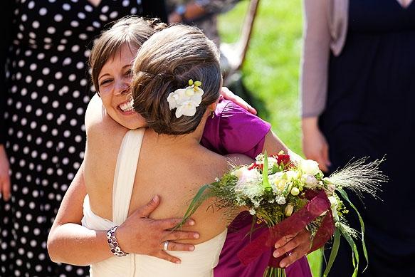 Hochzeitsfoto - Brautstraußwerfen