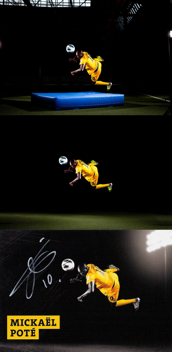 Sportfotograf: Making-Of Autogrammkarte SG Dynamo Dresden