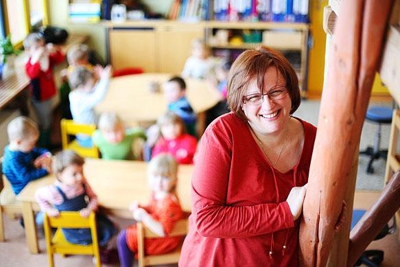 Pressefotograf - Portrait Kindergärtnerin