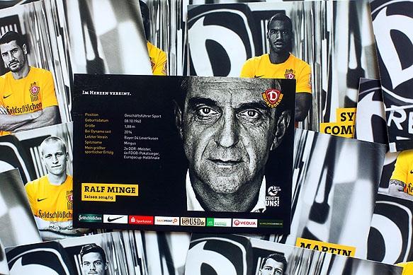 Sportfotografie - Autogrammkarten Player Cards SG Dynamo Dresden 2014/15