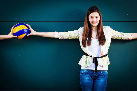 Tabea Yang Volleyballtalent vom VC Olympia Dresden