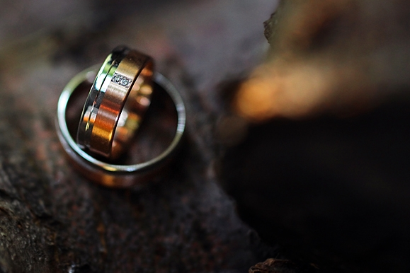 Hochzeitsfotograf - Hochzeitsringe als Makroaufnahme
