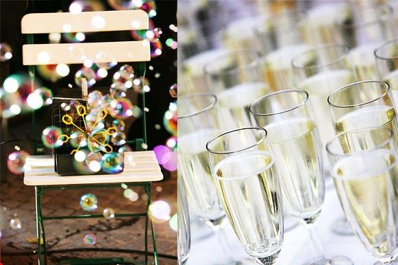 Hochzeitsfotograf - Seifenblasen & Sektgläser