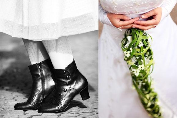 Hochzeitsfotograf - Rock 'n' Roll Bride & Brautstrauß