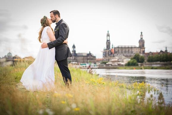 Hochzeitsfotografie Dresden Elbwiesen