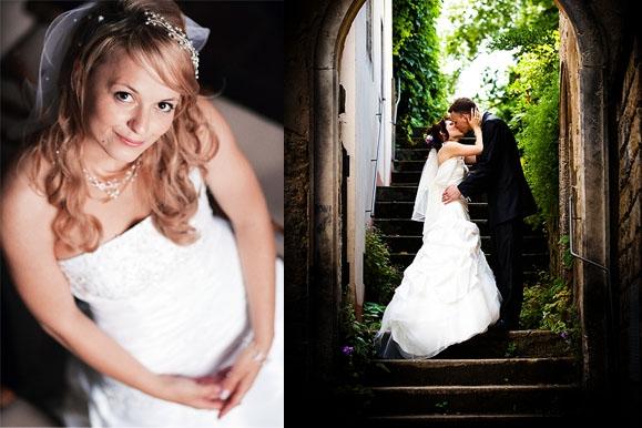 Hochzeitsfotograf - Hochzeitsportraitauf Gut Saathain und am Schloß Albrechtsberg Dresden