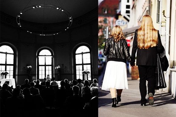 Hochzeitsfotograf - Hochzeitsfoto im Standesamt auf Schloß Wackerbarth im Gegenlicht & Rock 'n' Roll Wedding
