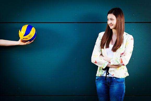 Pressefotograf - Volleyballtalent im Portrait