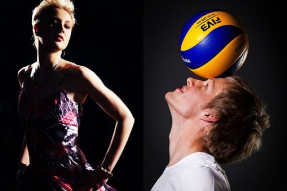 Pressefotograf - Portraits Volleyballer Dresdner SC und VC Dresden