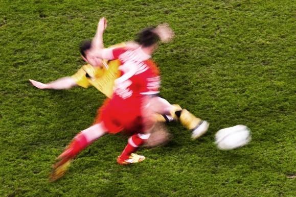 Sportfotograf - Dynamisches Motiv bei der SG Dynamo Dresden