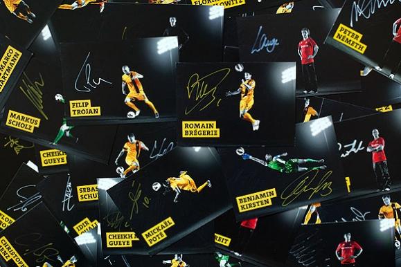 Firmenfotograf - Autogrammkarten der SG Dynamo Dresden