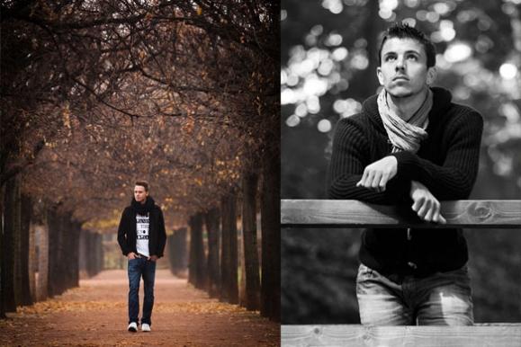 Firmenfotograf - Portraits von den Dynamo-Spielern Bjarne Thoelke und Anthony Losilla für das Stadionmagazin Kreisl